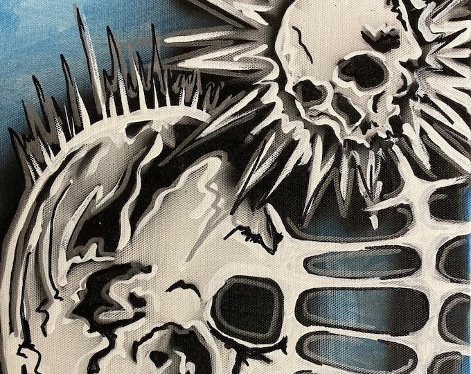 Skull Study Series #42 , Pop Art , Modern Art , Contemporary Art