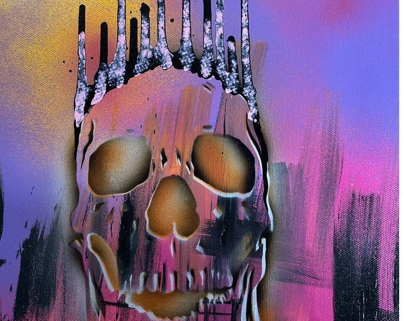 Skull Study Series #33, Pop Art , Modern Art , Contemporary Art