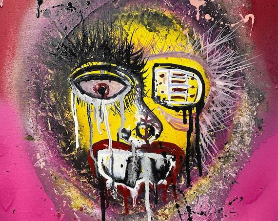 Abstract Portrait Series #2 , Pop Art , Modern Art , Contemporary Art , Figurative Portrait , Gallery Canvas