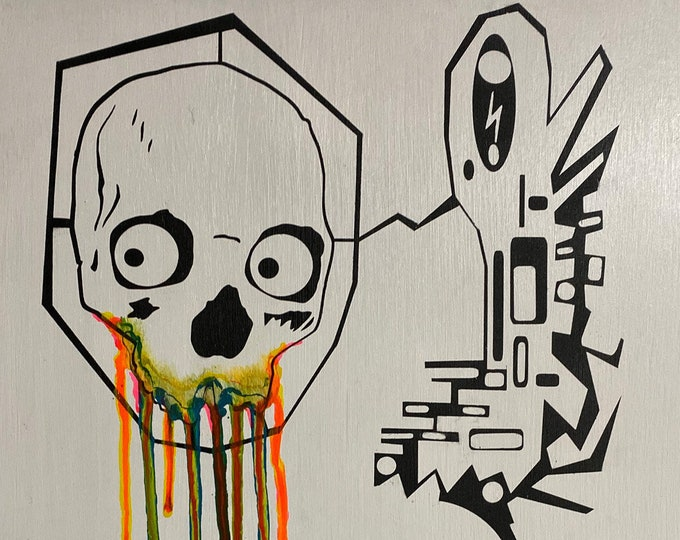 Absract Skull Series #6 , Pop Art , Modern Art , Contemporary Art