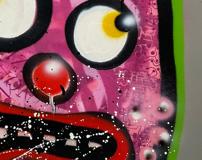Title: Phizog Series no. 42, Art , Pop Art , Modern Art , Contemporary Art , Surreal , Portrait , Figurative