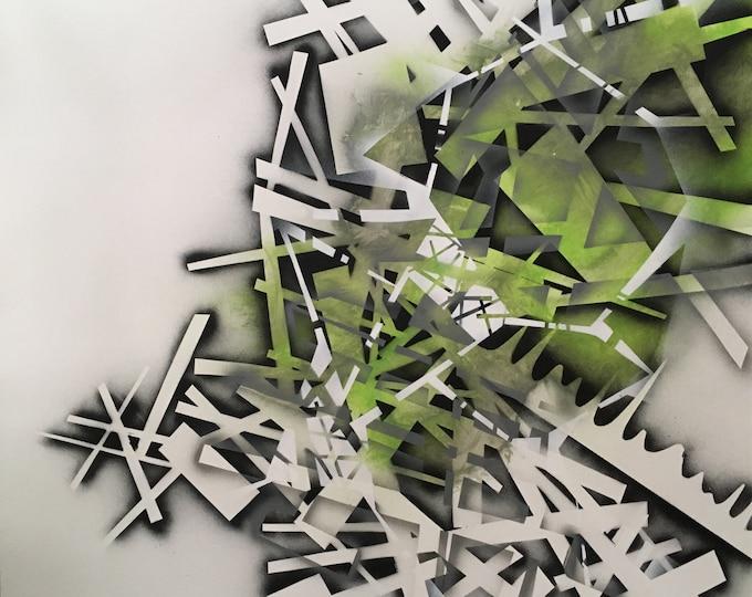 Chaotic Geometry Series, Acrylic Painting, Abstarct Art, Modern Art