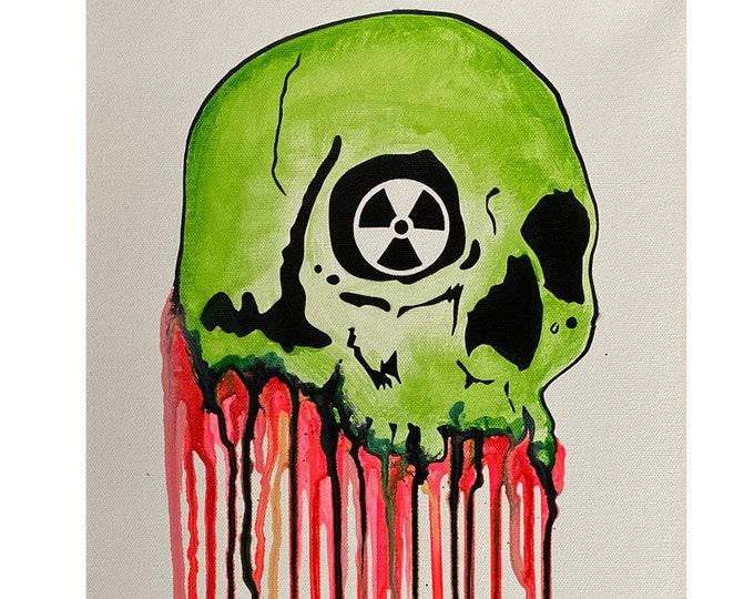 Dripping Skull Series #6 , Pop Art , Modern Art , Contemporary Art