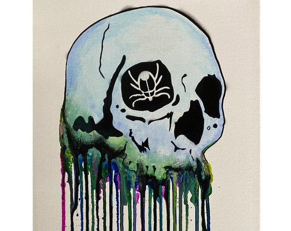 Dripping Skull Series #7 , Pop Art , Modern Art , Contemporary Art