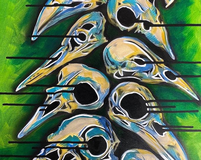 Abstract Bird Skull Series #1 , Pop Art , Modern Art , Contemporary Art