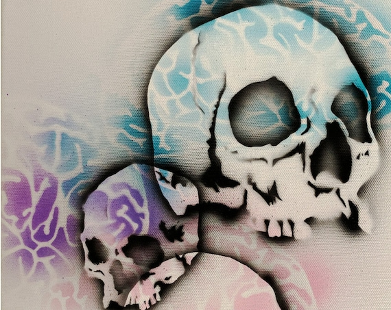 Skull Study Series #45 , Pop Art , Modern Art , Contemporary Art