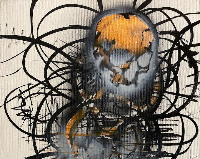 Skull Study Series #32, Pop Art , Modern Art , Contemporary Art