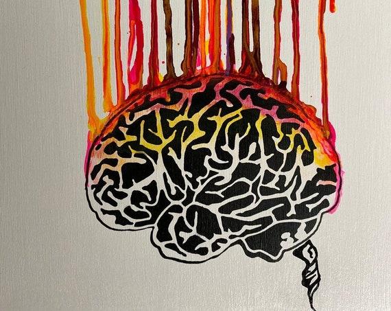 Dripping Brain Series #2 , Pop Art , Modern Art , Contemporary Art