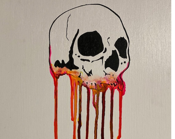 Dripping Skull Series #5 , Pop Art , Modern Art , Contemporary Art