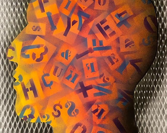 TITLE: More than human , Art , Pop Art , Modern Art , Contemporary Art , Surreal , Portrait , Figurative