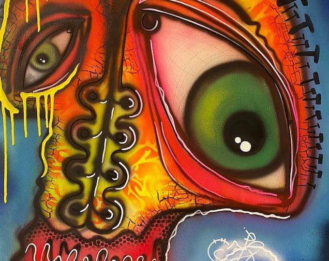 TITLE: Mind's Eye , Art , Fine Art , Modern Art , Contemporary Art , Abstract Art , MIxed Media , Surrealism