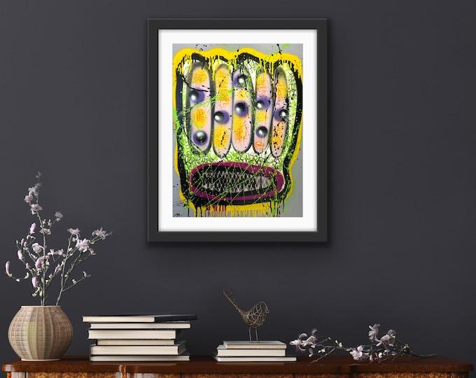 Title: Fried Pop Toast, art, fine art, pop art, modern art, contemporary art, acrylic, surreal art, abstract art, painting