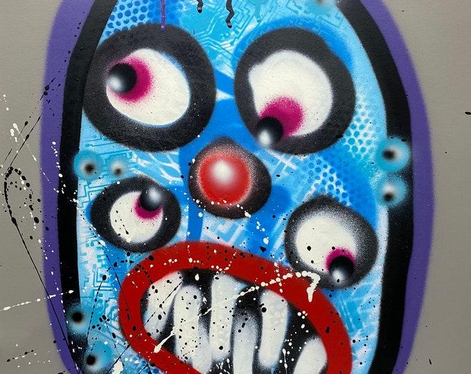 Title: Phizog Series no. 48 , Art , Pop Art , Modern Art , Contemporary Art , Surreal , Portrait , Figurative
