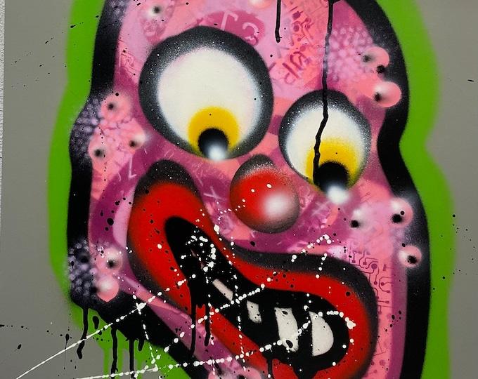 Title: Phizog Series no. 43 , Art , Pop Art , Modern Art , Contemporary Art , Surreal , Portrait , Figurative
