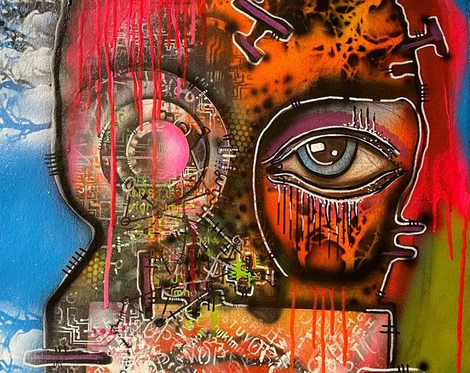 TITLE: Dumbstruck... Art , Fine Art , Modern Art , Contemporary Art , Abstract Art , MIxed Media , Surrealism