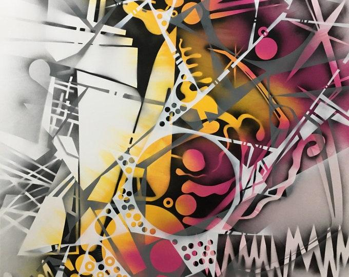 Chaotic Geometry Series, Abstract Painting, Modern Art, Original Art