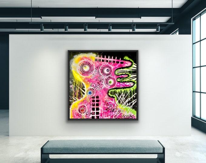 Title: Quantum Hammer , Art , Pop Art , Modern Art , Contemporary Art , Surreal , Portrait , Figurative , Abstract Art