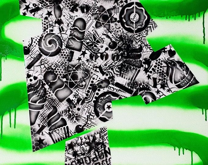 TITLE: junk logic 2020 , Art , Modern Art , Contemporary Art , Abstract Art , MIxed Media , Surreal Portrait