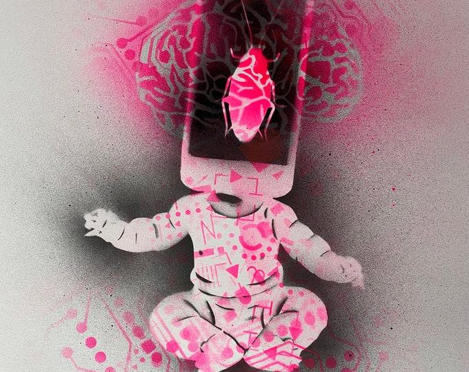 TITLE: Leading Edges...Abstract Art , Pop Art , Modern Art , Surrealism , Contemporary Art , Figurative Portrait , Print