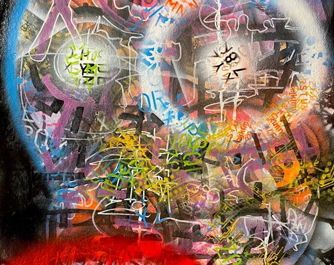 TITLE: Rancorous Tranquility , Art , Fine Art , Modern Art , Contemporary Art , Abstract Art , Mixed Media , Surrealism