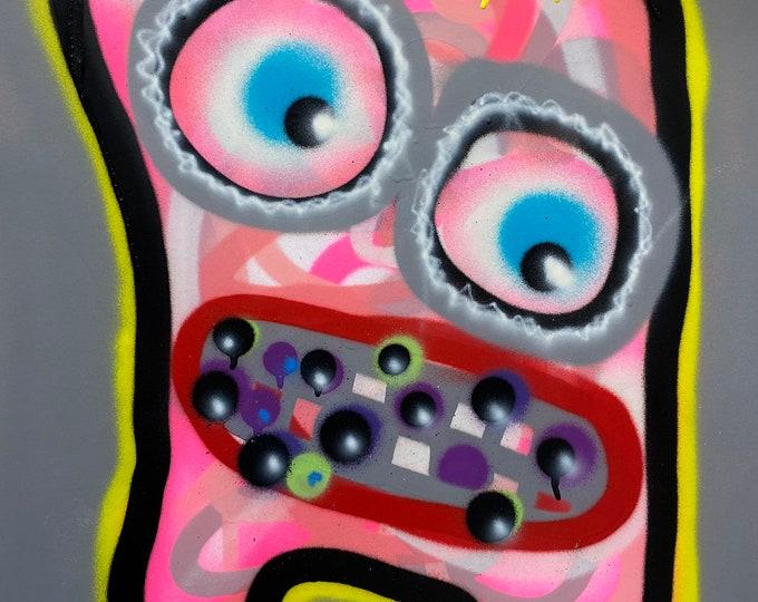 Title: Phizog Series no. 5 , Art , Pop Art , Modern Art , Contemporary Art , Surreal , Portrait , Figurative