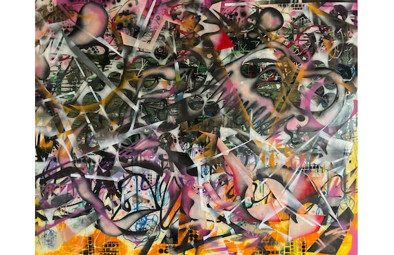 Creative Chaos Series #4, Modern Art, Contemporary Art, Pop Art, Abstract Expressionism, Organic Shapes