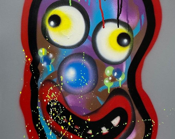 Title: Phizog Series no. 30 , Art , Pop Art , Modern Art , Contemporary Art , Surreal , Portrait , Figurative