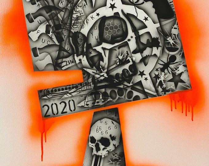 TITLE: HATE INC. 2020 , Art , Modern Art , Contemporary Art , Abstract Art , MIxed Media , Surreal Portrait