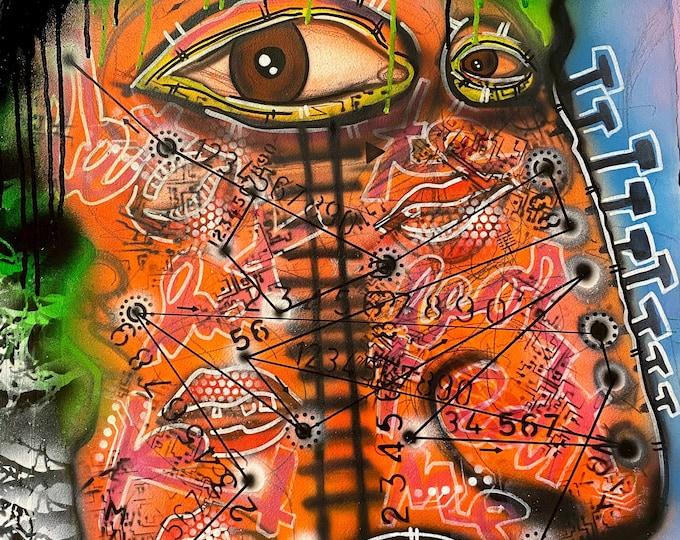 TITLE: Disjointed , Art , Fine Art , Modern Art , Contemporary Art , Abstract Art , Mixed Media , Surrealism