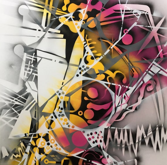 Chaotic Geometry Series, Abstract Painting, Modern Art, Original Art