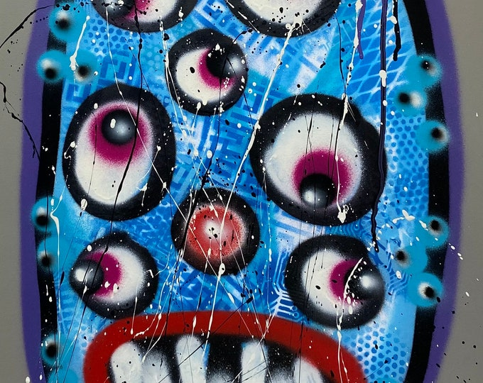 Title: Phizog Series no. 44 , Art , Pop Art , Modern Art , Contemporary Art , Surreal , Portrait , Figurative