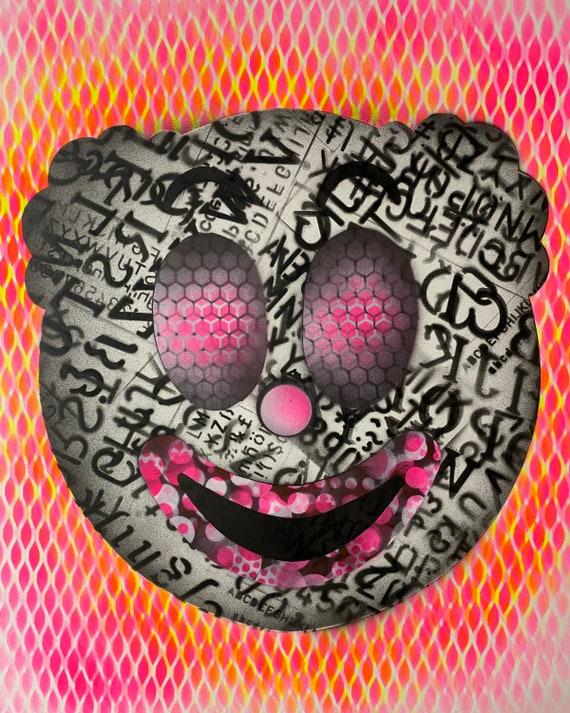 TITLE: clownish series #2 , Art , Modern Art , Pop Art , Contemporary Art , Abstract Art  Surreal