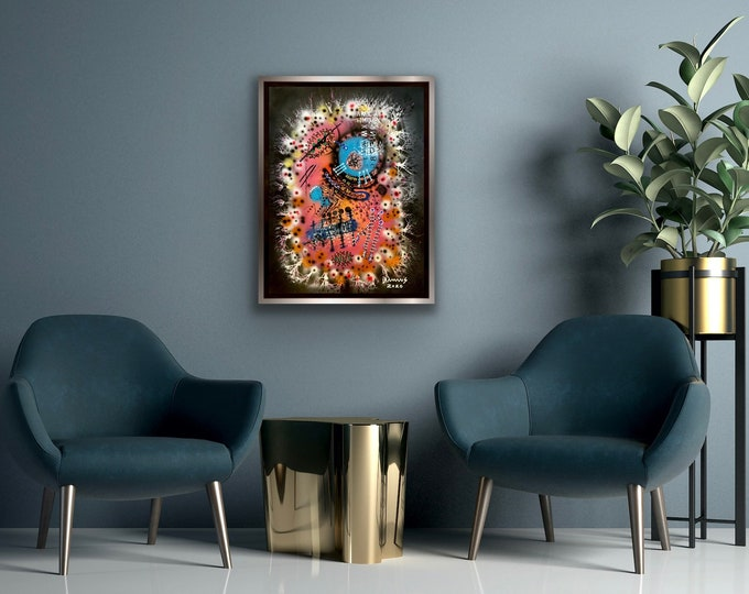TITLE: INTELLIGENT DESIGN 2020 , Art , Modern Art , Contemporary Art , Abstract Art , Mixed Media