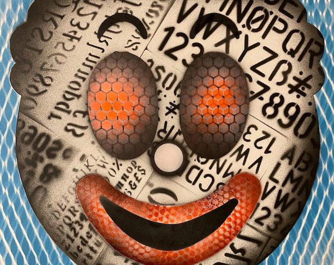 TITLE: clownish series #1 , Art , Modern Art , Pop Art , Contemporary Art , Abstract Art  Surreal