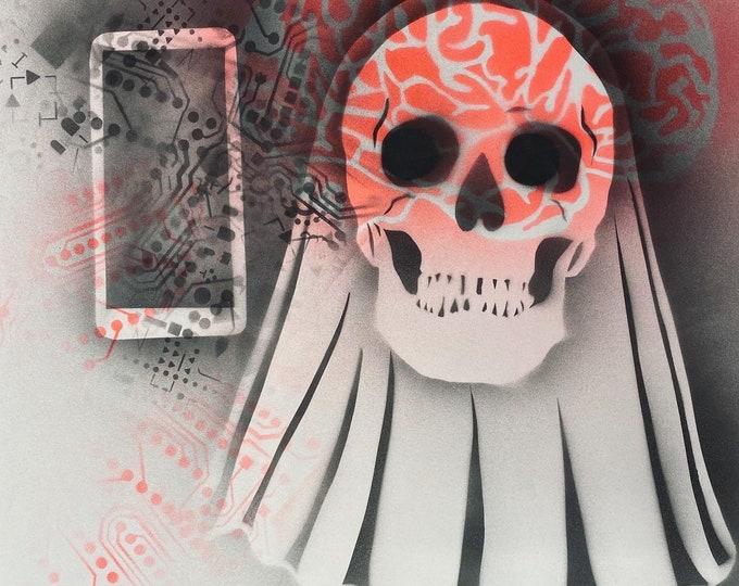 TITLE: ghost book 2020 , Abstract Art , Pop Art , Modern Art , Surrealism , Contemporary Art , Figurative Portrait