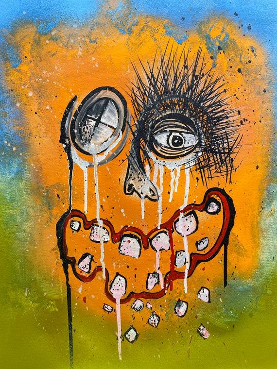 Abstract Portrait Series #5, Pop Art , Modern Art , Contemporary Art , Figurative Portrait , Gallery Canvas