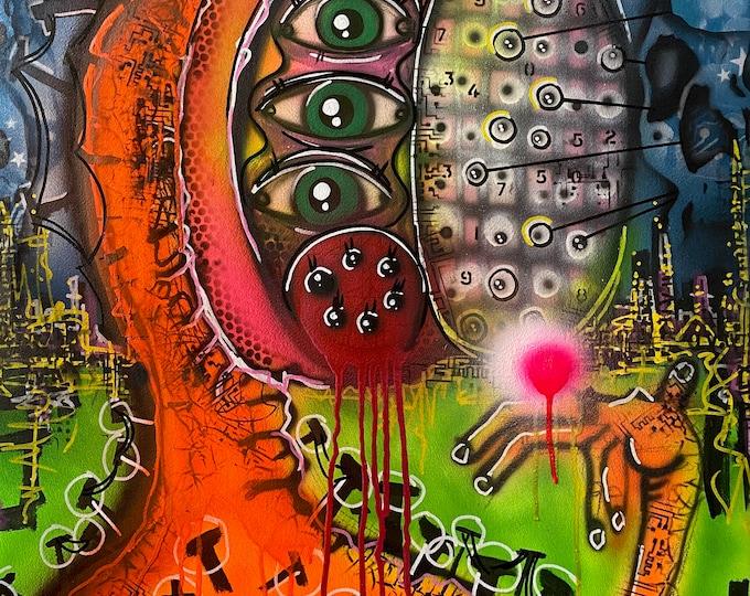 TITLE: Dissociated, Art , Fine Art , Modern Art , Contemporary Art , Abstract Art , Mixed Media , Surrealism