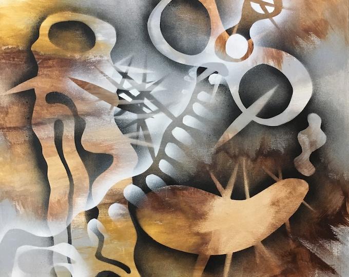 Abstract Artifact Series, Modern Art, Contemporary Art, Acrtlic Painting, Abstract Art, Fine Art