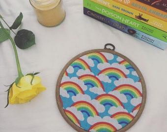 Pride pin hoop