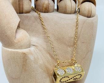 Tube pendant necklace