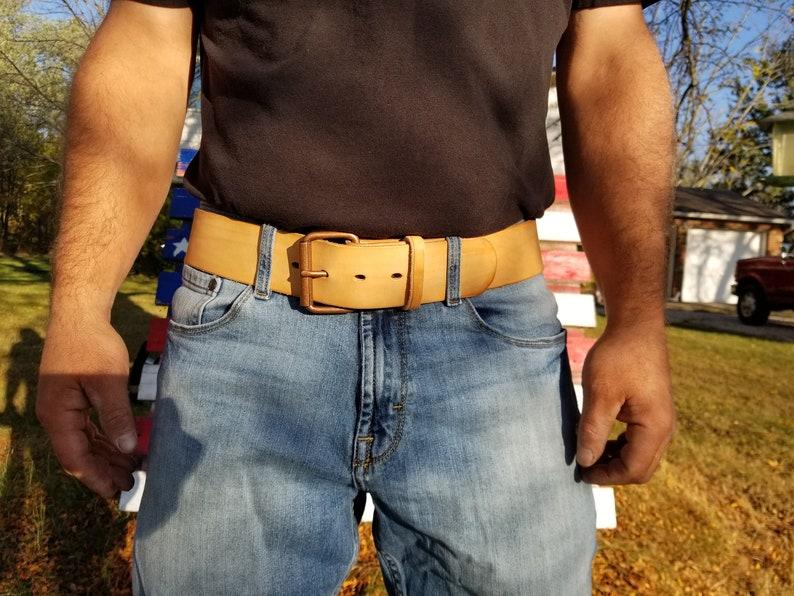 Veg Tan Natural Leather Belt image 0
