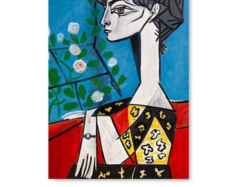 """Blue PABLO PICASSO Child with Dove 35.5/"""" x 27.5/"""" Poster 1997 Cubism Yellow"""