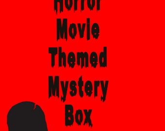 Posters Set   Horror Fan Gift Horror Pins Mystery Horror Box Gift Box For Horror Lovers Vinyl Stickers