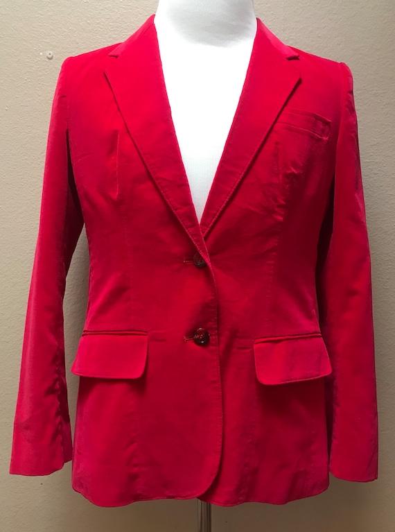 Vintage 1970's hot Schiap pink unisex velvet blaze