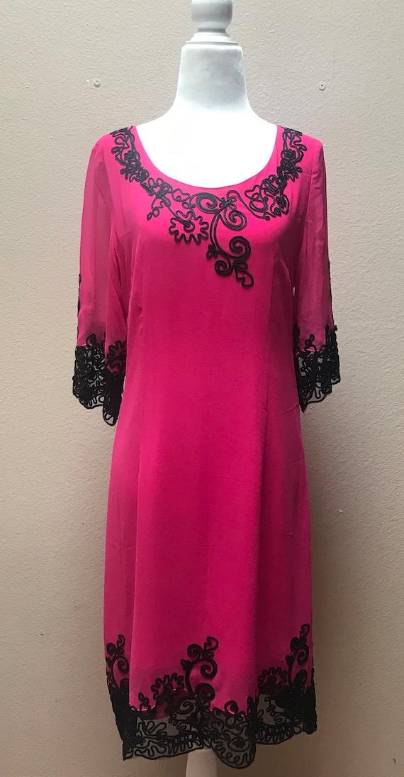 Vintage 1990's Anna Sui pink dress - image 2
