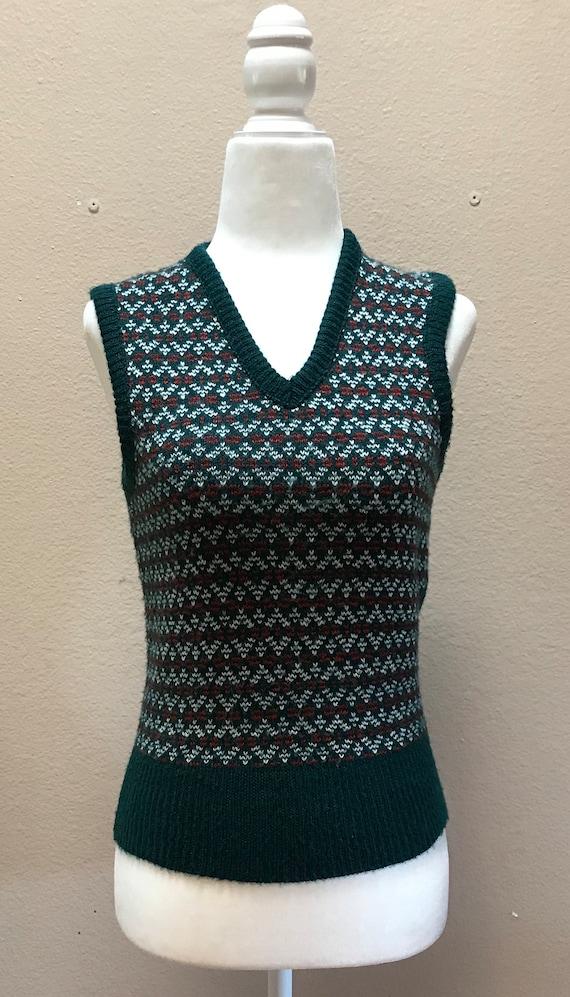 Vintage 1970's sweater vest