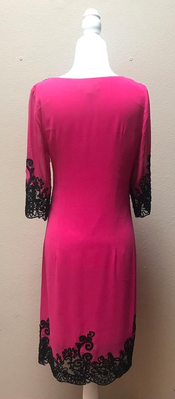 Vintage 1990's Anna Sui pink dress - image 5