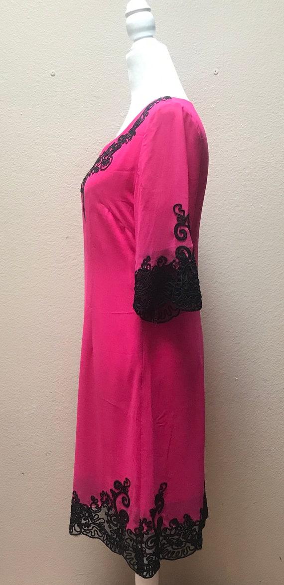 Vintage 1990's Anna Sui pink dress - image 4