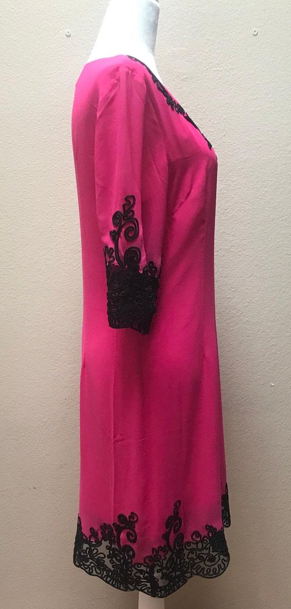 Vintage 1990's Anna Sui pink dress - image 3