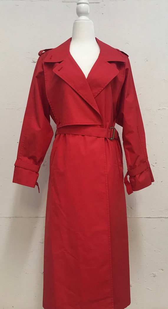 Vintage 1970's London Fog Red Trench coat